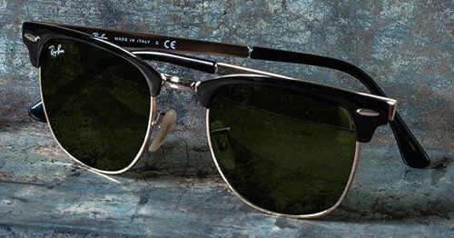 Nieuwe klassieker: Ray Ban Clubmaster Metal zonnebril