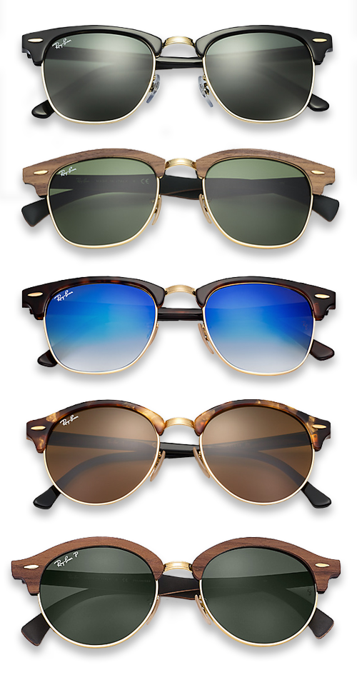 71a655666f6b66 Ray-Ban Clubmaster   Clubround zonnebril
